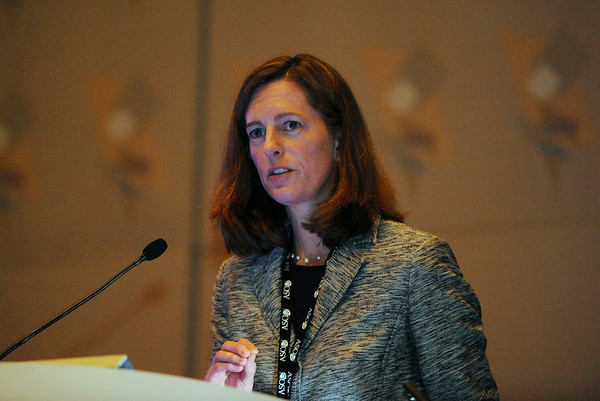 Chicago, IL - ASCO 2011 Annual Meeting:  Elizabeth  Burnside speaks during a Special Session<br />  at the American Society for Clinical Oncology Annual Meeting here today, Saturday June 4, 2011. Over 25,000  physicians, researchers and healthcare professionals from over 100 countries are attending the meeting which is being held at the McCormick Convention center and features the latest cancer research in the areas of basic and clinical science. Date: Saturday June 4, 2011 Photo by © GMG/Phil McCarten 2011 Technical Questions: todd@toddbuchanan.com; ASCO Contact: photos@asco.org Event Name: Special Session