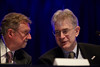 Chicago, IL - ASCO 2011 Annual Meeting:  Armand Keating and   George Sledge speaks during the Special Session: ASCO/ASH Joint Session at the American Society for Clinical Oncology Annual Meeting here today, Saturday June 4, 2011. Over 25,000  physicians, researchers and healthcare professionals from over 100 countries are attending the meeting which is being held at the McCormick Convention center and features the latest cancer research in the areas of basic and clinical science. Date: Saturday June 4, 2011 Photo by © GMG/Todd Buchanan 2011 Technical Questions: todd@toddbuchanan.com; ASCO Contact: photos@asco.org Event Name: Special Session: ASCO/ASH Joint Session