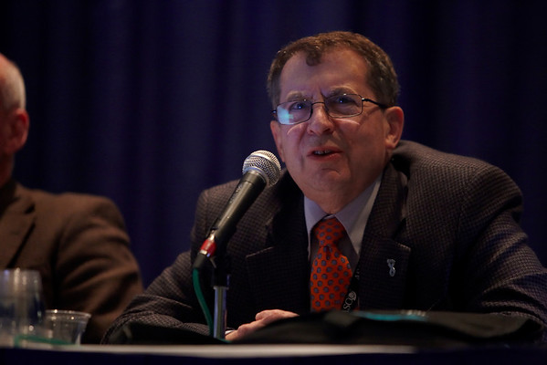 Chicago, IL - ASCO 2011 Annual Meeting:  Hyman Muss  speaks during the Designing clinical trials for elderly - S106 at the American Society for Clinical Oncology Annual Meeting here today, Saturday June 4, 2011. Over 25,000  physicians, researchers and healthcare professionals from over 100 countries are attending the meeting which is being held at the McCormick Convention center and features the latest cancer research in the areas of basic and clinical science. Date: Saturday June 4, 2011 Photo by © GMG/Silas Crews 2011 Technical Questions: todd@toddbuchanan.com; ASCO Contact: photos@asco.org Event Name: Designing clinical trials for elderly - S106