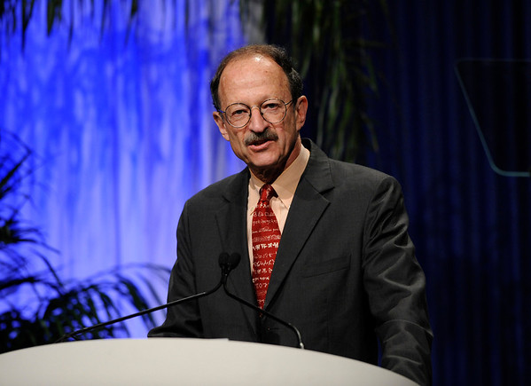 Chicago, IL - ASCO 2011 Annual Meeting:  Harold  Varmus, M.D. speaks during the Opening Session at the American Society for Clinical Oncology Annual Meeting here today, Saturday June 4, 2011. Over 25,000  physicians, researchers and healthcare professionals from over 100 countries are attending the meeting which is being held at the McCormick Convention center and features the latest cancer research in the areas of basic and clinical science. Date: Saturday June 4, 2011 Photo by © GMG/Phil McCarten 2011 Technical Questions: todd@toddbuchanan.com; ASCO Contact: photos@asco.org Event Name: Opening Session