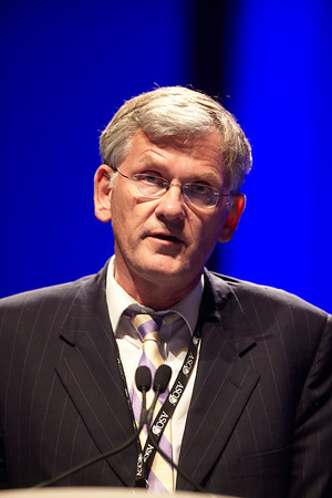 Chicago, IL - ASCO 2011 Annual Meeting:  Menno  Hausman speaks during the Special Session: ASCO/ASH Joint Session at the American Society for Clinical Oncology Annual Meeting here today, Saturday June 4, 2011. Over 25,000  physicians, researchers and healthcare professionals from over 100 countries are attending the meeting which is being held at the McCormick Convention center and features the latest cancer research in the areas of basic and clinical science. Date: Saturday June 4, 2011 Photo by © GMG/Todd Buchanan 2011 Technical Questions: todd@toddbuchanan.com; ASCO Contact: photos@asco.org Event Name: Special Session: ASCO/ASH Joint Session