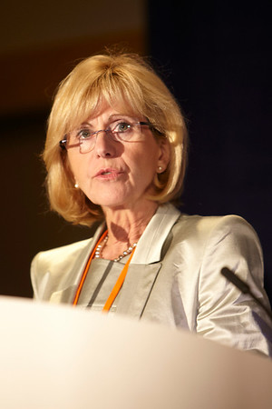 Chicago, IL - ASCO 2011 Annual Meeting: Ruth Ladenstein MD speaks during the Trials That Set New Standards of Care Press Briefing at the American Society for Clinical Oncology Annual Meeting here today, Sunday June 5, 2011. Over 25,000  physicians, researchers and healthcare professionals from over 100 countries are attending the meeting which is being held at the McCormick Convention center and features the latest cancer research in the areas of basic and clinical science. Date: Sunday June 5, 2011 Photo by © GMG/Scott Morgan 2011 Technical Questions: todd@toddbuchanan.com; ASCO Contact: photos@asco.org Event Name: Trials That Set New Standards of Care Press Briefing