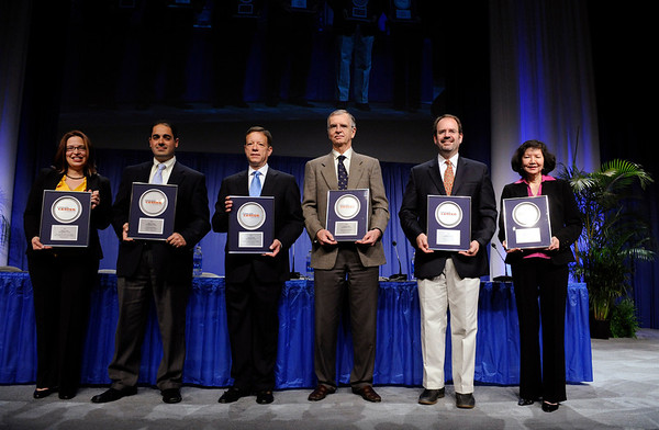 Chicago, IL - ASCO 2011 Annual Meeting:    Recipients are recognized during the Clinical Trials Participation Awards at the American Society for Clinical Oncology Annual Meeting here today, Sunday June 5, 2011. Over 25,000  physicians, researchers and healthcare professionals from over 100 countries are attending the meeting which is being held at the McCormick Convention center and features the latest cancer research in the areas of basic and clinical science. Date: Sunday June 5, 2011 Photo by © GMG/Phil McCarten 2011 Technical Questions: todd@toddbuchanan.com; ASCO Contact: photos@asco.org Event Name: Clinical Trials Participation Awards