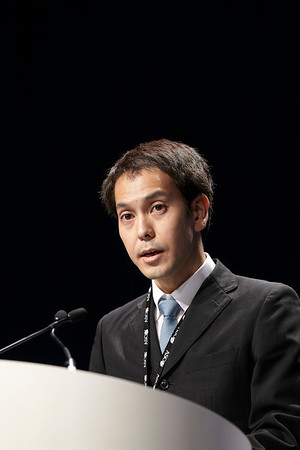 Chicago, IL - ASCO 2011 Annual Meeting:  Tatsuya  Abe speaks during the Oral Presentation: Abstract 7509 at the American Society for Clinical Oncology Annual Meeting here today, Sunday June 5, 2011. Over 25,000  physicians, researchers and healthcare professionals from over 100 countries are attending the meeting which is being held at the McCormick Convention center and features the latest cancer research in the areas of basic and clinical science. Date: Sunday June 5, 2011 Photo by © GMG/Todd Buchanan 2011 Technical Questions: todd@toddbuchanan.com; ASCO Contact: photos@asco.org Event Name: Oral Presentation: Abstract 7509