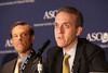 Chicago, IL - ASCO 2011 Annual Meeting: Jedd Wolchok MD PhD speaks during the Trials That Set New Standards of Care Press Briefing at the American Society for Clinical Oncology Annual Meeting here today, Sunday June 5, 2011. Over 25,000  physicians, researchers and healthcare professionals from over 100 countries are attending the meeting which is being held at the McCormick Convention center and features the latest cancer research in the areas of basic and clinical science. Date: Sunday June 5, 2011 Photo by © GMG/Scott Morgan 2011 Technical Questions: todd@toddbuchanan.com; ASCO Contact: photos@asco.org Event Name: Trials That Set New Standards of Care Press Briefing