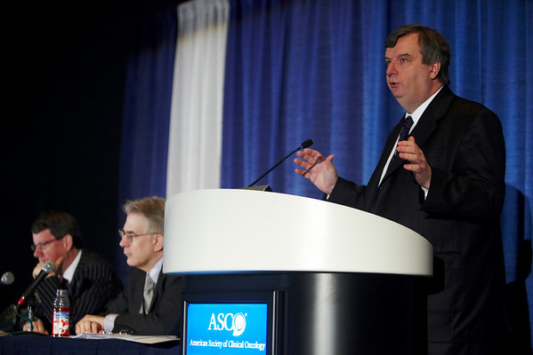 Chicago, IL - ASCO 2011 Annual Meeting:  Peter Boyle, PhD  speaks during the ASCO/ESMO Cancer in Low/Mid Income Countries at the American Society for Clinical Oncology Annual Meeting here today, Monday June 6, 2011. Over 25,000  physicians, researchers and healthcare professionals from over 100 countries are attending the meeting which is being held at the McCormick Convention center and features the latest cancer research in the areas of basic and clinical science. Date: Monday June 6, 2011 Photo by © GMG/Silas Crews 2011 Technical Questions: todd@toddbuchanan.com; ASCO Contact: photos@asco.org Event Name: ASCO/ESMO Cancer in Low/Mid Income Countries