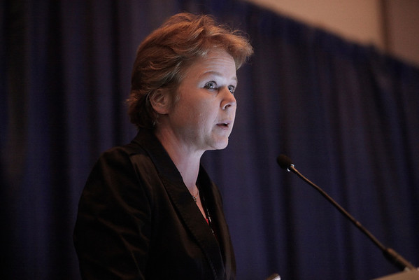 Chicago, IL - ASCO 2011 Annual Meeting:  Winette Van Der Graaf  speaks during the Oral Abstract: Sarcoma at the American Society for Clinical Oncology Annual Meeting here today, Monday June 6, 2011. Over 25,000  physicians, researchers and healthcare professionals from over 100 countries are attending the meeting which is being held at the McCormick Convention center and features the latest cancer research in the areas of basic and clinical science. Date: Monday June 6, 2011 Photo by © GMG/Silas Crews 2011 Technical Questions: todd@toddbuchanan.com; ASCO Contact: photos@asco.org Event Name: Oral Abstract: Sarcoma