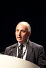 Chicago, IL - ASCO 2011 Annual Meeting:  John  Neoptolemos speaks during the LBA 4006 at the American Society for Clinical Oncology Annual Meeting here today, Tuesday June 7, 2011. Over 25,000  physicians, researchers and healthcare professionals from over 100 countries are attending the meeting which is being held at the McCormick Convention center and features the latest cancer research in the areas of basic and clinical science. Date: Tuesday June 7, 2011 Photo by © GMG/Todd Buchanan 2011 Technical Questions: todd@toddbuchanan.com; ASCO Contact: photos@asco.org Event Name: LBA 4006