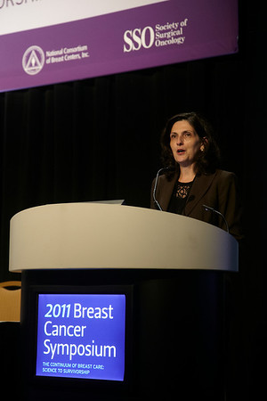 San Francisco, CA - Breast Cancer Symposium 2011 - The Continuum of Breast Care: Science to Survivorship - Banu Arun, MD addresses the attendees at the opening session of the Breast Cancer Symposium here today, Thursday September 8, 2011 at the San Francisco Marriott. Over 1100 attendees received updates on the latest research in breast cancer detection, care, prevention and treatment from physicians, clinicians and researchers from around the world.  Date: Thursday September 8, 2011 Photo by © ASCO/Todd Buchanan 2011 Technical Questions: todd@toddbuchanan.com; Phone: 612-226-5154.