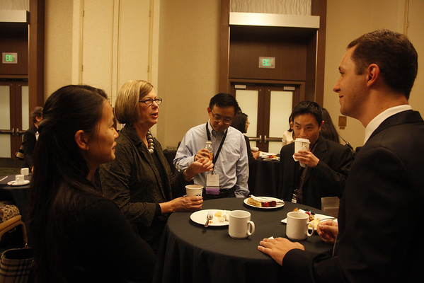 San Francisco, CA -  Breast Cancer Symposium 2011 - The Continuum of Breast Care: Science to Survivorship -  Fellows Breakfast during  the Breast Cancer Symposium here today, Friday September 9, 2011 at the San Francisco Marriott. Over 1100 attendees received updates on the latest research in breast cancer detection, care, prevention and treatment from physicians, clinicians and researchers from around the world.  Date: Friday September 9, 2011 Photo by © ASCO/Todd Buchanan 2011 Technical Questions: todd@toddbuchanan.com; Phone: 612-226-5154.