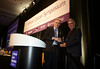 San Francisco, CA -  Breast Cancer Symposium 2011 - The Continuum of Breast Care: Science to Survivorship -  Luca Gianni, MD receives the Gianni Bonadonna Breast Cancer Award from Dr. George Sledge during  the Breast Cancer Symposium here today, Thursday September 8, 2011 at the San Francisco Marriott. Over 1100 attendees received updates on the latest research in breast cancer detection, care, prevention and treatment from physicians, clinicians and researchers from around the world.  Date: Thursday September 8, 2011 Photo by © ASCO/Todd Buchanan 2011 Technical Questions: todd@toddbuchanan.com; Phone: 612-226-5154.