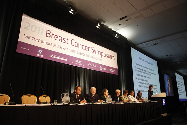 "San Francisco, CA -  Breast Cancer Symposium 2011 - The Continuum of Breast Care: Science to Survivorship -  D. L. Stan addresses the General Session V: Survivorship about Abstract #147: ""Needs and preferences of breast cancer survivors: A cross-sectional survey"" during  the Breast Cancer Symposium here today, Friday September 9, 2011 at the San Francisco Marriott. Over 1100 attendees received updates on the latest research in breast cancer detection, care, prevention and treatment from physicians, clinicians and researchers from around the world.  Date: Friday September 9, 2011 Photo by © ASCO/Todd Buchanan 2011 Technical Questions: todd@toddbuchanan.com; Phone: 612-226-5154."