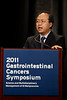 San Francisco, CA - 2011 Gastrointestinal Cancers Symposium - Dr. J.C. Yao (Abstract #159) addresses the ORal Abstract Session at the 2011 Gastrointestinal Cancers Symposium (GI) meeting at the Moscone Center West here today, Friday January 21, 2011. Photo by © Todd Buchanan 2011 Technical Questions: todd@toddbuchanan.com; Phone: 612-226-5154.