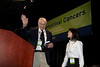 San Francisco, CA - 2011 Gastrointestinal Cancers Symposium -Dr. Cathy Eng presents Dr. Henry Lynch with the Keynote Lecture award at the 2011 Gastrointestinal Cancers Symposium (GI) meeting at the Moscone Center West here today, Saturday January 22, 2011. Photo by © Todd Buchanan 2011 Technical Questions: todd@toddbuchanan.com; Phone: 612-226-5154.