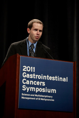 San Francisco, CA - 2011 Gastrointestinal Cancers Symposium - Dr. N.P. Campbell presents Abstratct #4 during the Oral Abstract Session at the 2011 Gastrointestinal Cancers Symposium (GI) meeting at the Moscone Center West here today, Thursday January 20, 2011. Photo by © Todd Buchanan 2011 Technical Questions: todd@toddbuchanan.com; Phone: 612-226-5154.