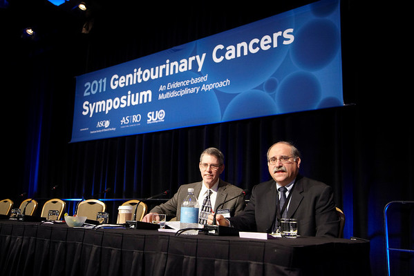 Orlando, FL - 2011 Genitourinary Cancers Symposium - Dr. Alan Pollack and Dr. Leonard G Gomella co-chair  the 2011 Genitourinary Cancers Symposium (GU) meeting at the Marriott World Center here today, Thursday February 17, 2011. Over 1800 Physicians, Researchers, Care givers and survivors attended the meeting sponsored by ASCO, ASTRO and SUO. Photo by © Todd Buchanan 2011 Technical Questions: todd@toddbuchanan.com; Phone: 612-226-5154.