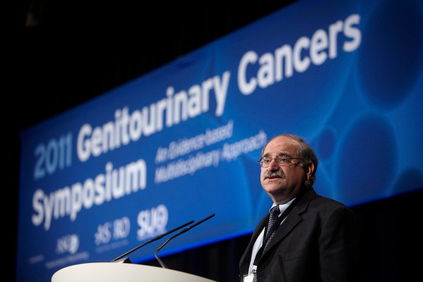 Orlando, FL - 2011 Genitourinary Cancers Symposium - Dr. Leonard G Gomella, co-chair  the 2011 Genitourinary Cancers Symposium (GU) meeting at the Marriott World Center here today, Thursday February 17, 2011. Over 1800 Physicians, Researchers, Care givers and survivors attended the meeting sponsored by ASCO, ASTRO and SUO. Photo by © Todd Buchanan 2011 Technical Questions: todd@toddbuchanan.com; Phone: 612-226-5154.