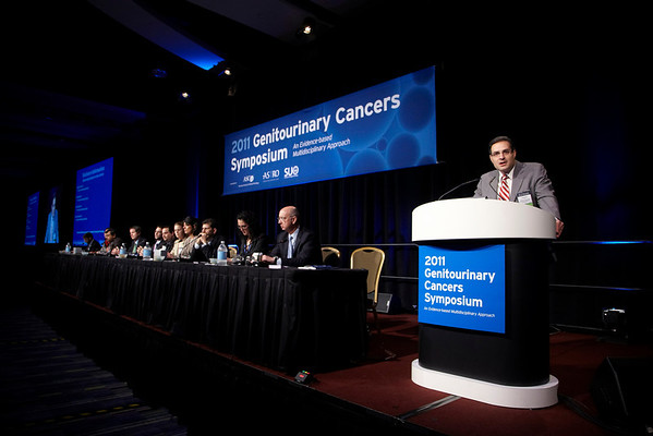 Orlando, FL - 2011 Genitourinary Cancers Symposium - Dr. Robert S. DiPaola address the ORal Abstract Session A: Prostate Cancer at the 2011 Genitourinary Cancers Symposium (GU) meeting at the Marriott World Center here today, Thursday February 17, 2011. Over 1800 Physicians, Researchers, Care givers and survivors attended the meeting sponsored by ASCO, ASTRO and SUO. Photo by © Todd Buchanan 2011 Technical Questions: todd@toddbuchanan.com; Phone: 612-226-5154.