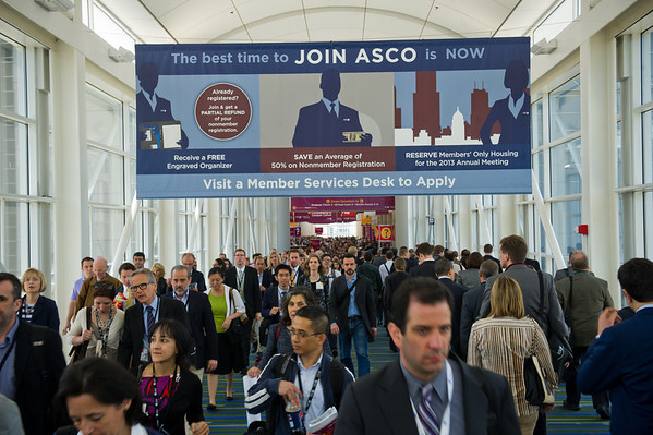 Chicago, IL - ASCO 2012 Annual Meeting: - General views  during  at the American Society for Clinical Oncology (ASCO) Annual Meeting here today, Saturday June 2, 2012.  Over 31,000 physicians, researchers and healthcare professionals from over 100 countries are attending the meeting which is being held at the McCormick Convention center and features the latest cancer research in the areas of basic and clinical science. Photo by © ASCO/Zach Boyden-Holmes 2012 Technical Questions: todd@toddbuchanan.com; ASCO Contact: photos@asco.org
