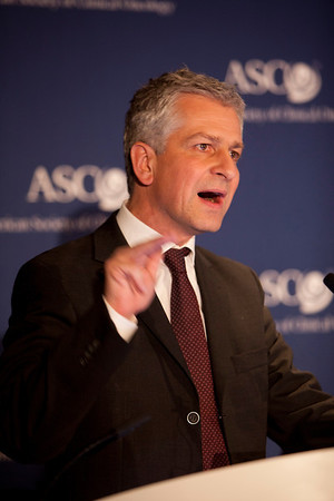 Chicago, IL - ASCO 2012 Annual Meeting: - Dirk Arnold, MD, speaks during the Press Conference: Highlighted Research of the Day at the American Society for Clinical Oncology (ASCO) Annual Meeting here today, Saturday June 2, 2012.  Over 31,000 physicians, researchers and healthcare professionals from over 100 countries are attending the meeting which is being held at the McCormick Convention center and features the latest cancer research in the areas of basic and clinical science. Photo by © ASCO/Scott Morgan 2012 Technical Questions: todd@toddbuchanan.com; ASCO Contact: photos@asco.org