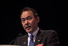 Chicago, IL - ASCO 2012 Annual Meeting: - Keiichi Fujiwara, MD, PhD Other Strategies in Upfront Treatment of Ovarian Cancer: Dose-Dense and Neoadjuvant Chemotherapy during Upfront Treatment of Ovarian Cancer: International Consensus and Variation at the American Society for Clinical Oncology (ASCO) Annual Meeting here today, Saturday June 2, 2012.  Over 31,000 physicians, researchers and healthcare professionals from over 100 countries are attending the meeting which is being held at the McCormick Convention center and features the latest cancer research in the areas of basic and clinical science. Photo by © ASCO/Silas Crews 2012 Technical Questions: todd@toddbuchanan.com; ASCO Contact: photos@asco.org