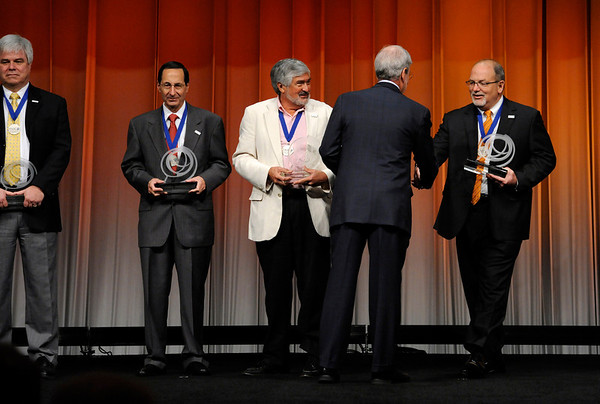 Chicago, IL - ASCO 2011 Annual Meeting: - FASCO  members are recognized during the Opening Session at the American Society for Clinical Oncology (ASCO) Annual Meeting here today, Saturday June 2, 2012.  Over 31,000 physicians, researchers and healthcare professionals from over 100 countries are attending the meeting which is being held at the McCormick Convention center and features the latest cancer research in the areas of basic and clinical science. Photo by © ASCO/Phil McCarten 2012 Technical Questions: todd@toddbuchanan.com; ASCO Contact: photos@asco.org