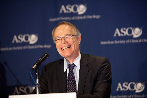 Chicago, IL - ASCO 2012 Annual Meeting: - Eric Pujade-Lauraine, MD, PhD speaks during the Highlighted Research Press Conference at the American Society for Clinical Oncology (ASCO) Annual Meeting here today, Friday June 1, 2012.  Over 31,000 physicians, researchers and healthcare professionals from over 100 countries are attending the meeting which is being held at the McCormick Convention center and features the latest cancer research in the areas of basic and clinical science. Photo by © ASCO/Scott Morgan 2012 Technical Questions: todd@toddbuchanan.com; ASCO Contact: photos@asco.org