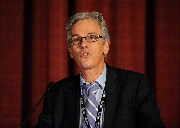 Chicago, IL - ASCO 2011 Annual Meeting: - Jaap Verweij, MD, PhD,   speaks during the Ed Session: What the Busy Oncologist Needs to Know About Gastrointestinal Stromal Tumor (Core) at the American Society for Clinical Oncology (ASCO) Annual Meeting here today, Monday June 4, 2012.  Over 25,000 physicians, researchers and healthcare professionals from over 100 countries are attending the meeting which is being held at the McCormick Convention center and features the latest cancer research in the areas of basic and clinical science. Photo by © ASCO/Phil McCarten 2012 Technical Questions: todd@toddbuchanan.com; ASCO Contact: photos@asco.org