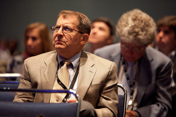 Chicago, IL - ASCO 2012 Annual Meeting: - Matti S. Aapro, MD,  speaks during the B. J. Kennedy Award and Lecture for Scientific Excellence in Geriatric Oncology at the American Society for Clinical Oncology (ASCO) Annual Meeting here today, Sunday June 3, 2012.  Over 31,000 physicians, researchers and healthcare professionals from over 100 countries are attending the meeting which is being held at the McCormick Convention center and features the latest cancer research in the areas of basic and clinical science. Photo by © ASCO/Scott Morgan 2012 Technical Questions: todd@toddbuchanan.com; ASCO Contact: photos@asco.org
