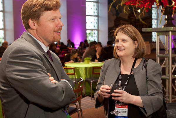 Chicago, IL - ASCO 2012 Annual Meeting: -   Guests at the President's Reception at Soldier Field during the American Society for Clinical Oncology (ASCO) Annual Meeting here today, Monday June 4, 2012.  Over 31,000 physicians, researchers and healthcare professionals from over 100 countries are attending the meeting which is being held at the McCormick Convention center and features the latest cancer research in the areas of basic and clinical science. Photo by © ASCO/Scott Morgan 2012 Technical Questions: todd@toddbuchanan.com; ASCO Contact: photos@asco.org