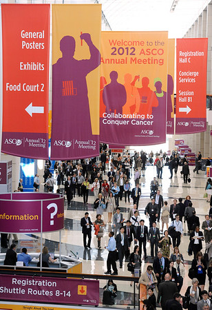 Chicago, IL - ASCO 2011 Annual Meeting: - General views  during  the American Society for Clinical Oncology (ASCO) Annual Meeting here today, Sunday June 3, 2012.  Over 31,000 physicians, researchers and healthcare professionals from over 100 countries are attending the meeting which is being held at the McCormick Convention center and features the latest cancer research in the areas of basic and clinical science. Photo by © ASCO/Phil McCarten 2012 Technical Questions: todd@toddbuchanan.com; ASCO Contact: photos@asco.org