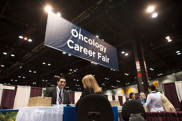 Chicago, IL - ASCO 2011 Annual Meeting: - The Oncology Career Fair at the American Society for Clinical Oncology (ASCO) Annual Meeting here today, Sunday June 3, 2012.  Over 31,000 physicians, researchers and healthcare professionals from over 100 countries are attending the meeting which is being held at the McCormick Convention center and features the latest cancer research in the areas of basic and clinical science. Photo by © ASCO/Brian Powers 2012 Technical Questions: todd@toddbuchanan.com; ASCO Contact: photos@asco.org