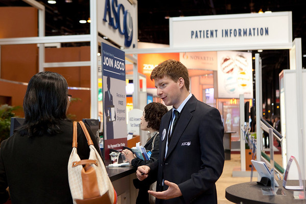 Chicago, IL - ASCO 2012 Annual Meeting: - General Views  of ASCO Member Services at the American Society for Clinical Oncology (ASCO) Annual Meeting here today, Sunday June 3, 2012.  Over 31,000 physicians, researchers and healthcare professionals from over 100 countries are attending the meeting which is being held at the McCormick Convention center and features the latest cancer research in the areas of basic and clinical science. Photo by © ASCO/Scott Morgan 2012 Technical Questions: todd@toddbuchanan.com; ASCO Contact: photos@asco.org