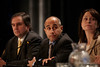 San Francisco, CA - 2011 Genitourinary Cancers Symposium - Panelists from the General Session IV: Urothelial Carcinomas at the 2011 Genitourinary Cancers Symposium (GI) meeting at the Marriott Marquis here today, Friday February 3, 2012.  A record 2500 attendees from around the world were on hand to learn the latest treatment and research in Genitourinary cancers from fellow physicians, researchers, health care professionals, cancer survivors and patient advocates. Photo by © ASCO/Todd Buchanan 2012 Technical Questions: todd@toddbuchanan.com; Phone: 612-226-5154.