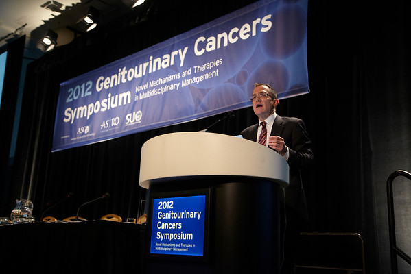 San Francisco, CA - 2011 Genitourinary Cancers Symposium - Mark A. Rubin, MD gives the keynote lecture at the 2011 Genitourinary Cancers Symposium (GI) meeting at the Marriott Marquis here today, Friday February 3, 2012.  A record 2500 attendees from around the world were on hand to learn the latest treatment and research in Genitourinary cancers from fellow physicians, researchers, health care professionals, cancer survivors and patient advocates. Photo by © ASCO/Todd Buchanan 2012 Technical Questions: todd@toddbuchanan.com; Phone: 612-226-5154.