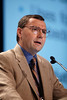 San Francisco, CA - 2011 Genitourinary Cancers Symposium - Dan Theodorescu, MD, PhD discusses How Will Gene-Expression Data Inform Risk Stratification and Treatment Selection? during the General Session V: Translational Science Session: Urothelial Carcinomas at the 2011 Genitourinary Cancers Symposium (GI) meeting at the Marriott Marquis here today, Friday February 3, 2012.  A record 2500 attendees from around the world were on hand to learn the latest treatment and research in Genitourinary cancers from fellow physicians, researchers, health care professionals, cancer survivors and patient advocates. Photo by © ASCO/Todd Buchanan 2012 Technical Questions: todd@toddbuchanan.com; Phone: 612-226-5154.