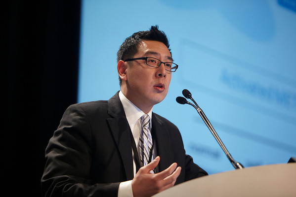 San Francisco, CA - 2011 Genitourinary Cancers Symposium - Evan Y. Yu, MD addresses the General Session II: Castration-Resistant Prostate Cancer -- Treatment Sequencing and Implementation at the 2011 Genitourinary Cancers Symposium (GI) meeting at the Marriott Marquis here today, Friday February 3, 2012.  A record 2500 attendees from around the world were on hand to learn the latest treatment and research in Genitourinary cancers from fellow physicians, researchers, health care professionals, cancer survivors and patient advocates. Photo by © ASCO/Todd Buchanan 2012 Technical Questions: todd@toddbuchanan.com; Phone: 612-226-5154.