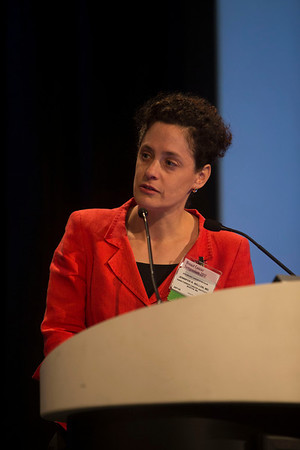 San Francisco, CA - Breast Cancer Symposium 2012: Jennifer R. Bellon, MD, discusses Moderator during General Session III: Controversies in Diagnosis of Early-Stage Breast Cancer and Management of Sentinel Nodes at the Breast Cancer Symposium 2012 here today, Thursday September 13, 2012.  The Symposium is supported by ASCO, the American Society of Clinical Oncology, ASTRO, The American Society of Radiation Oncology, SSO, Society of Surgical Oncology, ASBS American Society of Breast Surgeons and ASBC American Society of Breast Cancer. Over 1,000 physicians, researchers and allied healthcare professionals are attending the meeting which is being held at the San Francisco Marriott and features the latest Breast Cancer research in the areas of basic and clinical science. Photo by © ASCO/Todd Buchanan 2012 Technical Questions: todd@toddbuchanan.com;