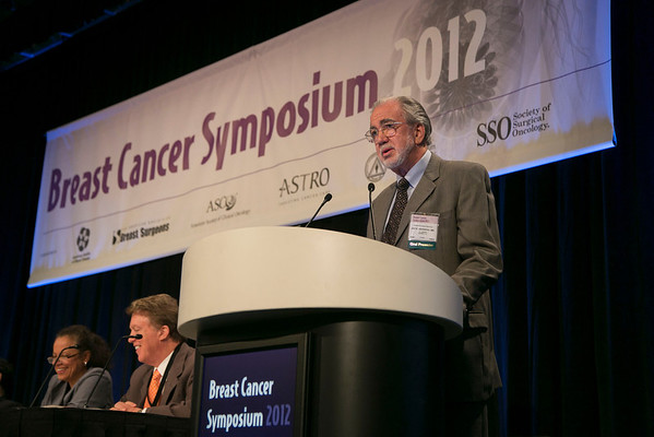 San Francisco, CA - Breast Cancer Symposium 2012: Jay K Harness, MD,  discusses Abstract #143: Intraoperative electron radiotherapy in early-stage breast cancer: A report on 226 patients during General Session IV: Controversies in Local/Regional Treatment at the Breast Cancer Symposium 2012 here today, Thursday September 13, 2012.  The Symposium is supported by ASCO, the American Society of Clinical Oncology, ASTRO, The American Society of Radiation Oncology, SSO, Society of Surgical Oncology, ASBS American Society of Breast Surgeons and ASBC American Society of Breast Cancer. Over 1,000 physicians, researchers and allied healthcare professionals are attending the meeting which is being held at the San Francisco Marriott and features the latest Breast Cancer research in the areas of basic and clinical science. Photo by © ASCO/Todd Buchanan 2012 Technical Questions: todd@toddbuchanan.com;