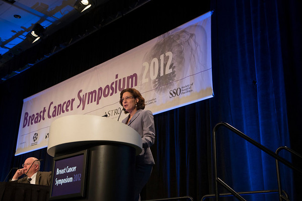 San Francisco, CA - Breast Cancer Symposium 2012: Hope Rugo, MD discusses Abstract #99 Everolimus for postmenopausal women with advanced breast cancer: Updated results of the BOLERO-2 phase III trial during the General Session I: Controversial Topics in Medical Oncology Management at the Breast Cancer Symposium 2012 here today, Thursday September 13, 2012.  The Symposium is supported by ASCO, the American Society of Clinical Oncology, ASTRO, The American Society of Radiation Oncology, SSO, Society of Surgical Oncology, ASBS American Society of Breast Surgeons and ASBC American Society of Breast Cancer. Over 1,000 physicians, researchers and allied healthcare professionals are attending the meeting which is being held at the San Francisco Marriott and features the latest Breast Cancer research in the areas of basic and clinical science. Photo by © ASCO/Todd Buchanan 2012 Technical Questions: todd@toddbuchanan.com;