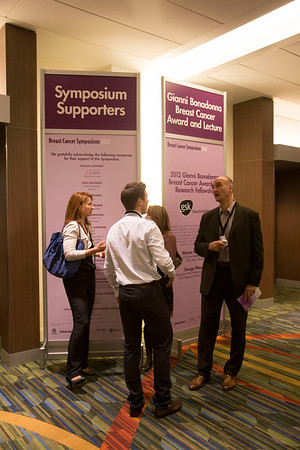San Francisco, CA - Breast Cancer Symposium 2012: {edit status} at the Breast Cancer Symposium 2012 here today, Thursday September 13, 2012.  The Symposium is supported by ASCO, the American Society of Clinical Oncology, ASTRO, The American Society of Radiation Oncology, SSO, Society of Surgical Oncology, ASBS American Society of Breast Surgeons and ASBC American Society of Breast Cancer. Over 1,000 physicians, researchers and allied healthcare professionals are attending the meeting which is being held at the San Francisco Marriott and features the latest Breast Cancer research in the areas of basic and clinical science. Photo by © ASCO/Todd Buchanan 2012 Technical Questions: todd@toddbuchanan.com;