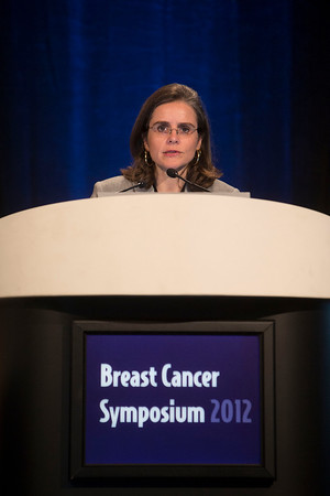 San Francisco, CA - Breast Cancer Symposium 2012: Ana M. Gonzalez-Angulo, MD, MSc discusses Clinical Trials Based on Genomic Profiling in the Adjuvant and Neoadjuvant Setting during the General Session V: Genomics for the Clinician at the Breast Cancer Symposium 2012 here today, Friday September 14, 2012.  The Symposium is supported by ASCO, the American Society of Clinical Oncology, ASTRO, The American Society of Radiation Oncology, SSO, Society of Surgical Oncology, ASBS American Society of Breast Surgeons and ASBC American Society of Breast Cancer. Over 1,000 physicians, researchers and allied healthcare professionals are attending the meeting which is being held at the San Francisco Marriott and features the latest Breast Cancer research in the areas of basic and clinical science. Photo by © ASCO/Todd Buchanan 2012 Technical Questions: todd@toddbuchanan.com;