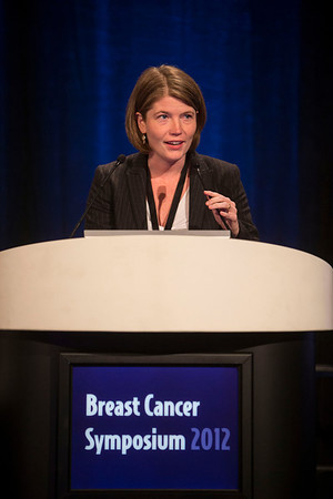 San Francisco, CA - Breast Cancer Symposium 2012: Melinda L. Telli, MD discusses Triple-negative Disease Discussion during the Poster Discussion Session B at the Breast Cancer Symposium 2012 here today, Friday September 14, 2012.  The Symposium is supported by ASCO, the American Society of Clinical Oncology, ASTRO, The American Society of Radiation Oncology, SSO, Society of Surgical Oncology, ASBS American Society of Breast Surgeons and ASBC American Society of Breast Cancer. Over 1,000 physicians, researchers and allied healthcare professionals are attending the meeting which is being held at the San Francisco Marriott and features the latest Breast Cancer research in the areas of basic and clinical science. Photo by © ASCO/Todd Buchanan 2012 Technical Questions: todd@toddbuchanan.com;