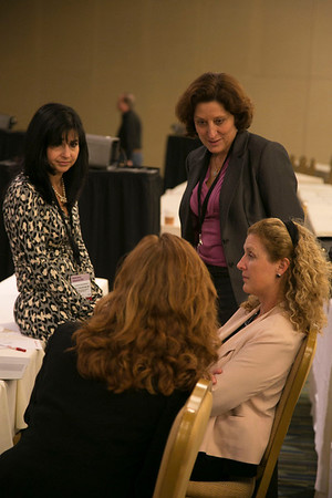 San Francisco, CA - Breast Cancer Symposium 2012: Lori J. Goldstein, MD & Hope Rugo during the Poster Discussion Session B at the Breast Cancer Symposium 2012 here today, Friday September 14, 2012.  The Symposium is supported by ASCO, the American Society of Clinical Oncology, ASTRO, The American Society of Radiation Oncology, SSO, Society of Surgical Oncology, ASBS American Society of Breast Surgeons and ASBC American Society of Breast Cancer. Over 1,000 physicians, researchers and allied healthcare professionals are attending the meeting which is being held at the San Francisco Marriott and features the latest Breast Cancer research in the areas of basic and clinical science. Photo by © ASCO/Todd Buchanan 2012 Technical Questions: todd@toddbuchanan.com;