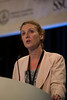 San Francisco, CA - Breast Cancer Symposium 2012: Lisa A. Carey, MD addresses the General Session IX: New Directions in Systemic Therapy for Advanced Disease at the Breast Cancer Symposium 2012 here today, Saturday September 15, 2012.  The Symposium is supported by ASCO, the American Society of Clinical Oncology, ASTRO, The American Society of Radiation Oncology, SSO, Society of Surgical Oncology, ASBS American Society of Breast Surgeons and ASBC American Society of Breast Cancer. Over 1,000 physicians, researchers and allied healthcare professionals are attending the meeting which is being held at the San Francisco Marriott and features the latest Breast Cancer research in the areas of basic and clinical science. Photo by © ASCO/Todd Buchanan 2012 Technical Questions: todd@toddbuchanan.com;