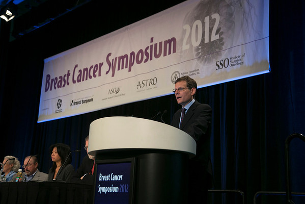 San Francisco, CA - Breast Cancer Symposium 2012: Clifford Hudis, MD discusses Debate: Use of Anthracyclines in HER2-Positive and HER2-Negative Patients: Pro during the General Session XI: Debates on Current Controversies in Systemic Therapy at the Breast Cancer Symposium 2012 here today, Saturday September 15, 2012.  The Symposium is supported by ASCO, the American Society of Clinical Oncology, ASTRO, The American Society of Radiation Oncology, SSO, Society of Surgical Oncology, ASBS American Society of Breast Surgeons and ASBC American Society of Breast Cancer. Over 1,000 physicians, researchers and allied healthcare professionals are attending the meeting which is being held at the San Francisco Marriott and features the latest Breast Cancer research in the areas of basic and clinical science. Photo by © ASCO/Todd Buchanan 2012 Technical Questions: todd@toddbuchanan.com;