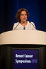 San Francisco, CA - Breast Cancer Symposium 2012: Hope Rugo, MD addresses the Welcome and General Session IX: New Directions in Systemic Therapy for Advanced Disease at the Breast Cancer Symposium 2012 here today, Saturday September 15, 2012.  The Symposium is supported by ASCO, the American Society of Clinical Oncology, ASTRO, The American Society of Radiation Oncology, SSO, Society of Surgical Oncology, ASBS American Society of Breast Surgeons and ASBC American Society of Breast Cancer. Over 1,000 physicians, researchers and allied healthcare professionals are attending the meeting which is being held at the San Francisco Marriott and features the latest Breast Cancer research in the areas of basic and clinical science. Photo by © ASCO/Todd Buchanan 2012 Technical Questions: todd@toddbuchanan.com;
