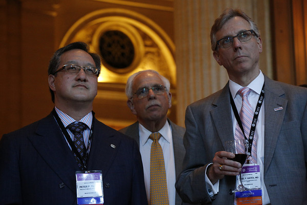 Chicago, IL - ASCO 2013 Annual Meeting: - Attendees during the World Oncology Leaders Reunion at the American Society for Clinical Oncology (ASCO) Annual Meeting here today, Monday July 1, 2013.  Over 30,000 physicians, researchers and healthcare professionals from over 100 countries are attending the meeting which is being held at the McCormick Convention center and features the latest cancer research in the areas of basic and clinical science. Photo by © ASCO/Todd Buchanan 2013 Technical Questions: todd@toddbuchanan.com; ASCO Contact: photos@asco.org