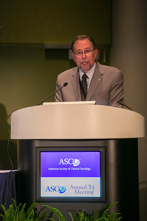 Chicago, IL - ASCO 2013 Annual Meeting: - Dr. Richard Shilsky, CMO of ASCO, discusses the CSS--  Bridging Evidence to Clinical Care: Cost and Availability of Treatment at the American Society for Clinical Oncology (ASCO) Annual Meeting here today, Tuesday June 4, 2013.  Over 30,000 physicians, researchers and healthcare professionals from over 100 countries are attending the meeting which is being held at the McCormick Convention center and features the latest cancer research in the areas of basic and clinical science. Photo by © ASCO/Todd Buchanan 2013 Technical Questions: todd@toddbuchanan.com; ASCO Contact: photos@asco.org