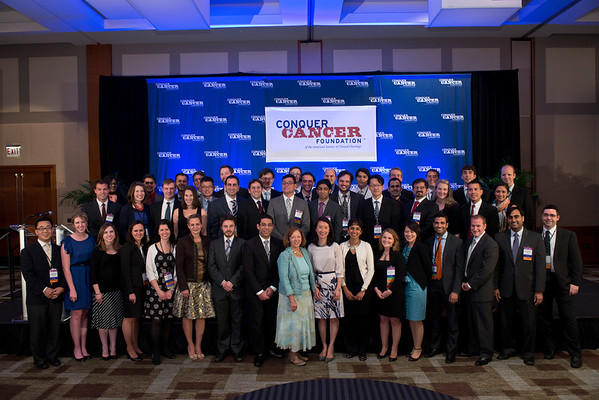 Chicago, IL - ASCO 2013 Annual Meeting: - Award Recipients pose for photos after the 2013 Grants and Awards Ceremony and Reception at the American Society for Clinical Oncology (ASCO) Annual Meeting here today, Sunday June 2, 2013.  Over 30,000 physicians, researchers and healthcare professionals from over 100 countries are attending the meeting which is being held at the McCormick Convention center and features the latest cancer research in the areas of basic and clinical science. Photo by © ASCO/Brian Powers 2013 Technical Questions: todd@toddbuchanan.com; ASCO Contact: photos@asco.org